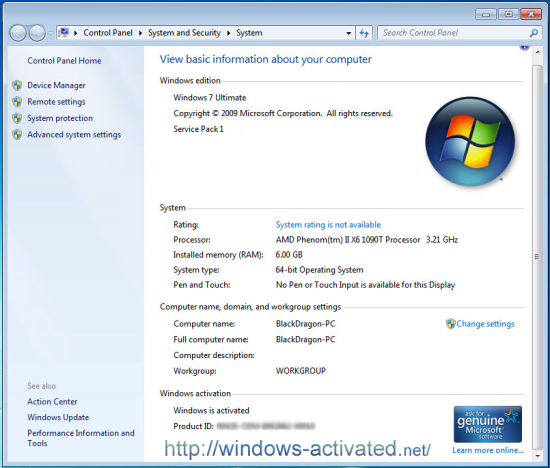 windows 7 activated by Windows Loader