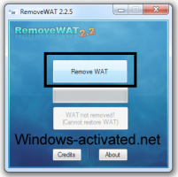 activation windows 7 . Instruction for RemoveWAT activator.