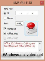 Kms GUI ELDi - activator for Microsoft Office 2013