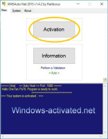 Instruction for activator KMS Auto . Activation Windows 8.1