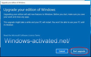 instruction for activation windows 10